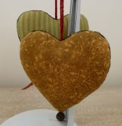 Fabric Hanging Hearts 111