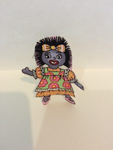GOLLIWOG IRON ON MOTIF ONE GIRL