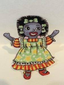 GOLLIWOG IRON ON MOTIF ONE GIRL1