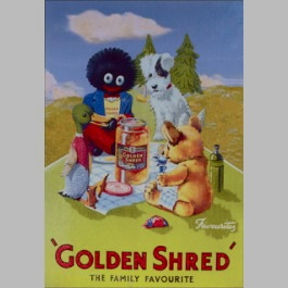 Golden Shred Golliwog Postcard
