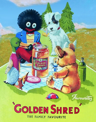 Golden Shred Golliwog Tea Towel