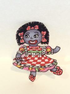Golliwog Iron on Motif Girl