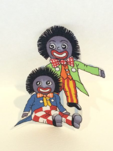 Golliwog Iron on Motif with two boys