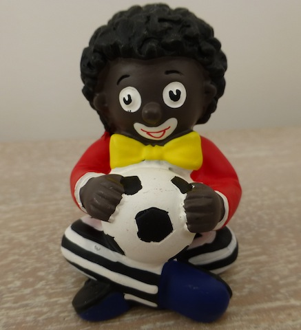 Little Sitting Golliwog With Ball