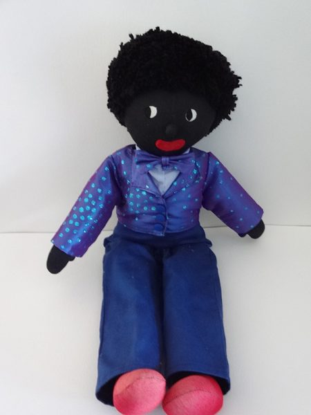 Tall Golliwog in Sparkly Jacket and Bowtie