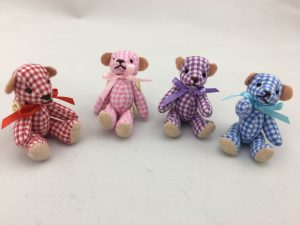 Miniature teddies.