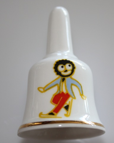 Pre-Loved China Bell With Golliwog Skater