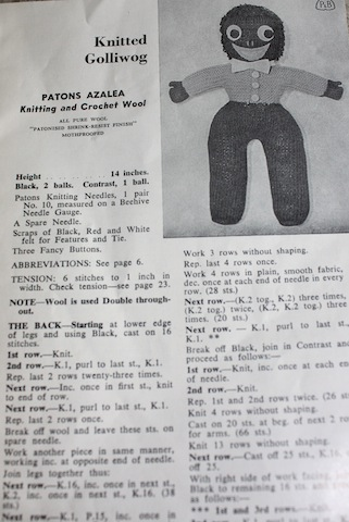 Vintage Patons Craft Book All Things Golliwog