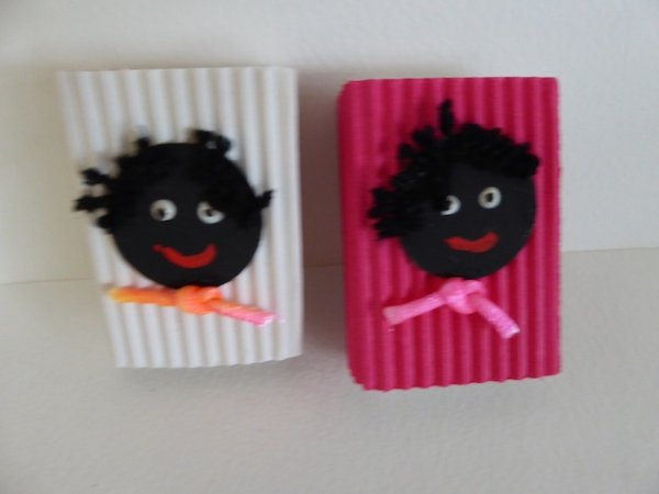 Coloured Box with Golliwog Magnets