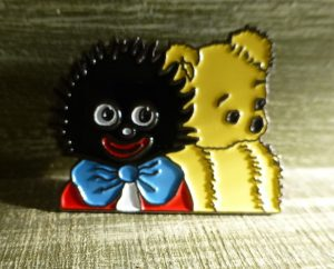 Golliwog And Bear Brooch