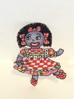 Iron on Motif Golliwog Girl