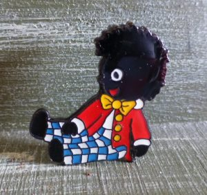 Wally The Golliwog Enamel Brooch