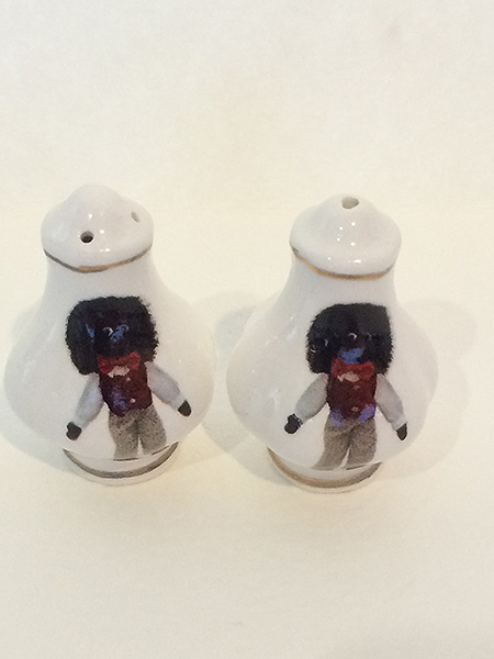 Miniature Salt and Pepper Shakers with Golliwog