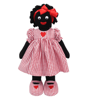Kate Finn Heart Red 41cm Golly Doll / Golliwog