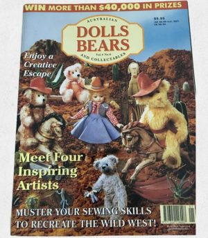 Australian Dolls and Bears Magazine with Golliwog Pattern