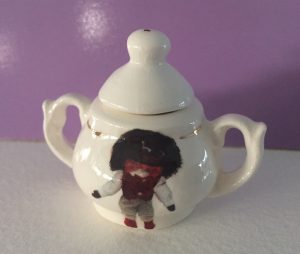Miniature Sugar Basin with Golliwog