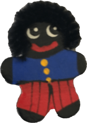 Small wooden Golliwog brooch