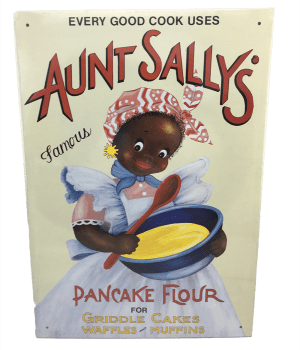Tin Sign: Aunt Sally's Flour
