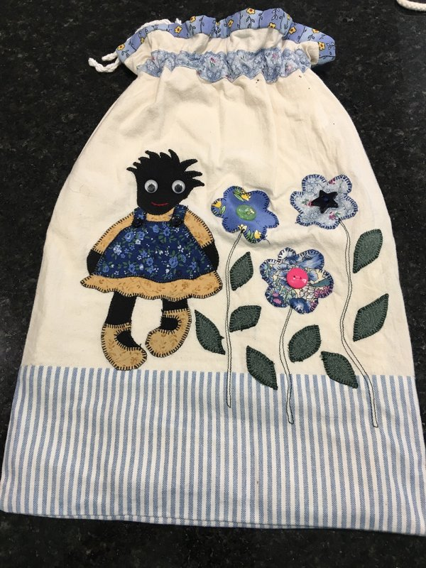 Pre-loved Large fabric bag with drawstring