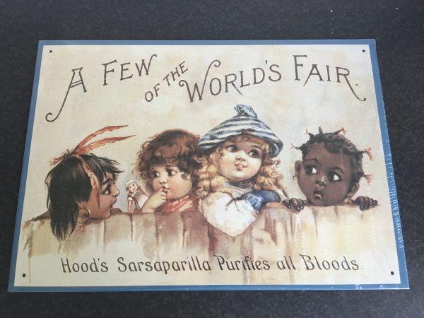 Tin Sign: Hoods World Fair