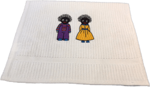 Hand Towel with Male and Girl Golliwog