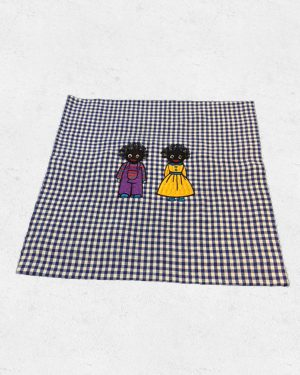 Cushion with male and girl golliwog