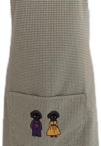 Apron with male and girl golliwog
