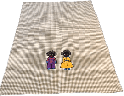 Tea Towel with male and female golliwog