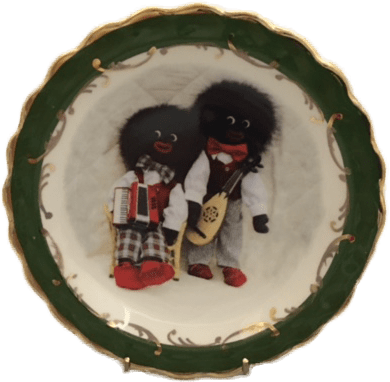 Round Plate with Musical Golliwog