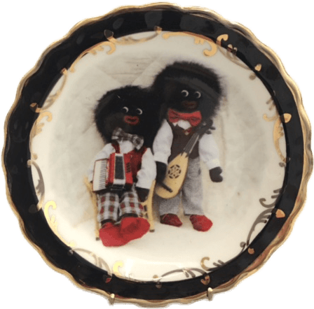 Round Plate with Musical Golliwogs