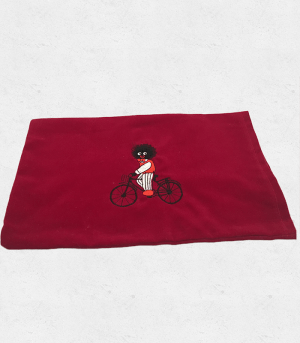 Wheat Bag Cover with Golliwog on Bike