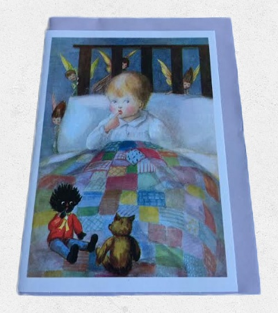 Card: Angels with Golliwog