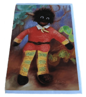 Golliwog in Red Jumper Card