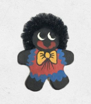 Lady Golliwog Wooden Pin
