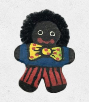 Male Golliwog Wooden Pin