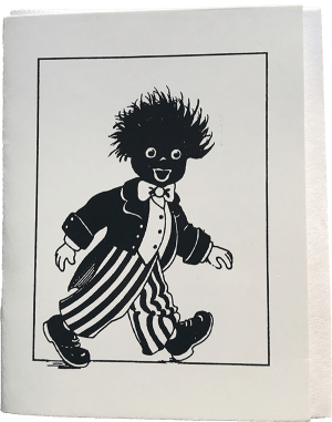 Small black and white Golliwog card