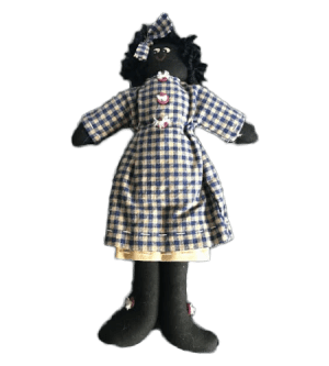 33cm Girl Golliwog with Handpainted Face
