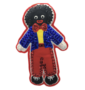 Golliwog Christmas Decoration with Blue Jacket