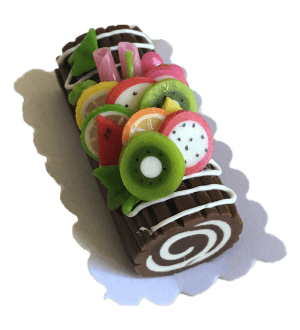 Miniature Chocolate Cake - Fruits
