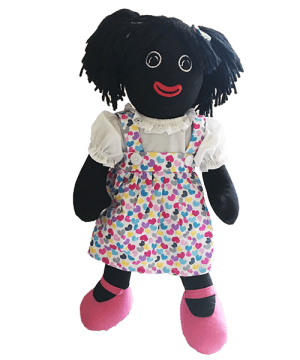 Maplewood: Angie 35cm Golliwog With Heart Designs