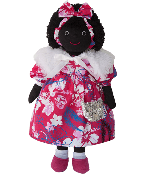 Mel & Steff: Flowers on Fuschia Golliwog