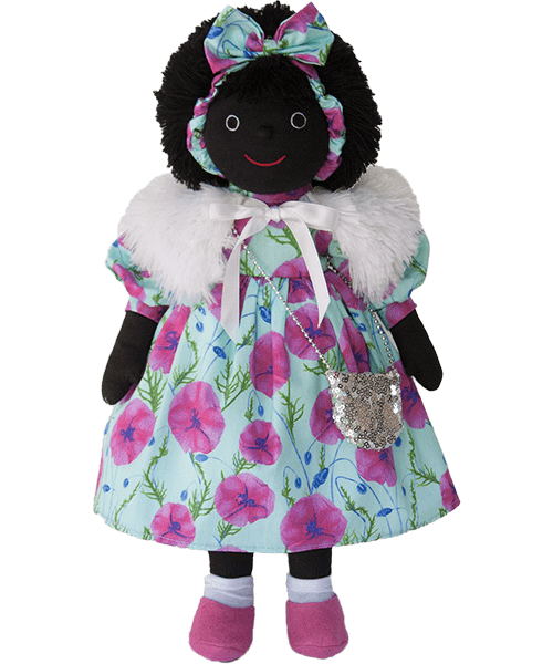 Mel & Steff: Poppies on blue Golliwog