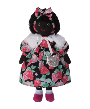 Mel & Steff: Strawberry on black Golliwog