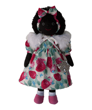 Mel & Steff: Strawberry on white Golliwog