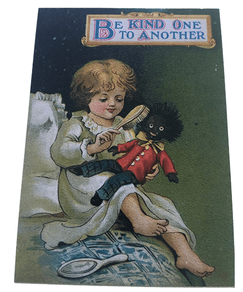 Golliwog Postcard: Be Kind to One Another