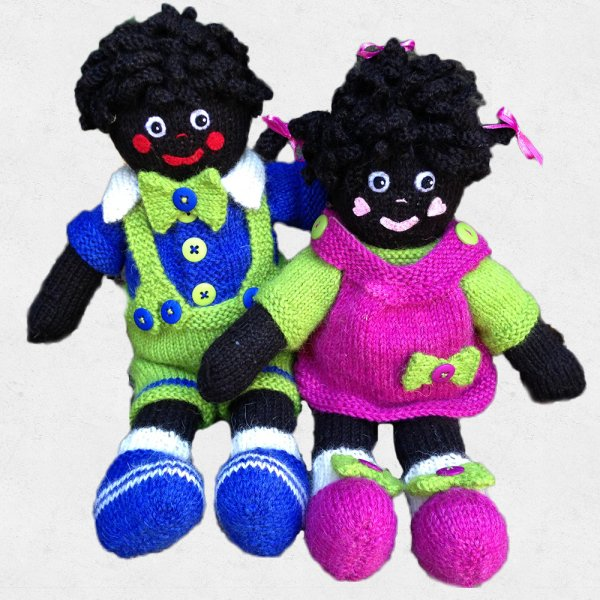 Knitting Pattern: Leroy and Maybelle Golliwogs
