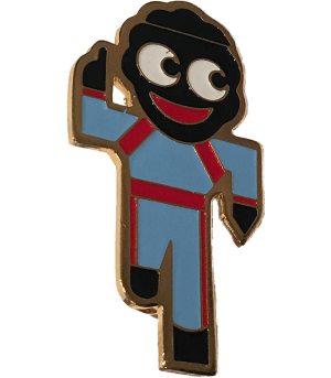 Robertsons Badge: Blue Runner Golliwog
