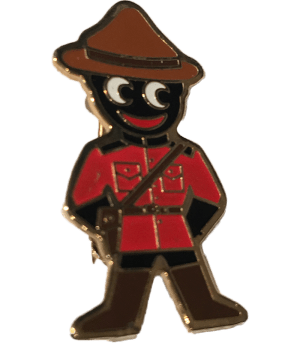 Robertsons Badge: Canadian Mounty Golliwog
