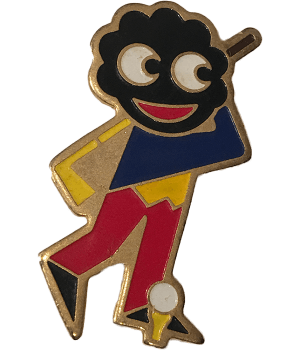Robertsons Badge Golliwog playing Golf