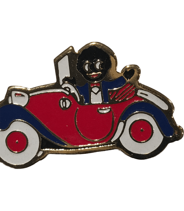 Robertsons Badge: Golliwog in the car
